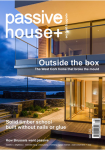 Front cover of passive house plus magazine