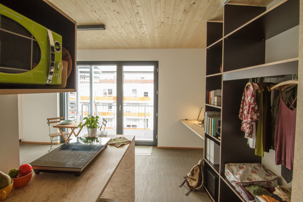 Inside a light and airy student dorm in the Student Residence 42 in Bonn