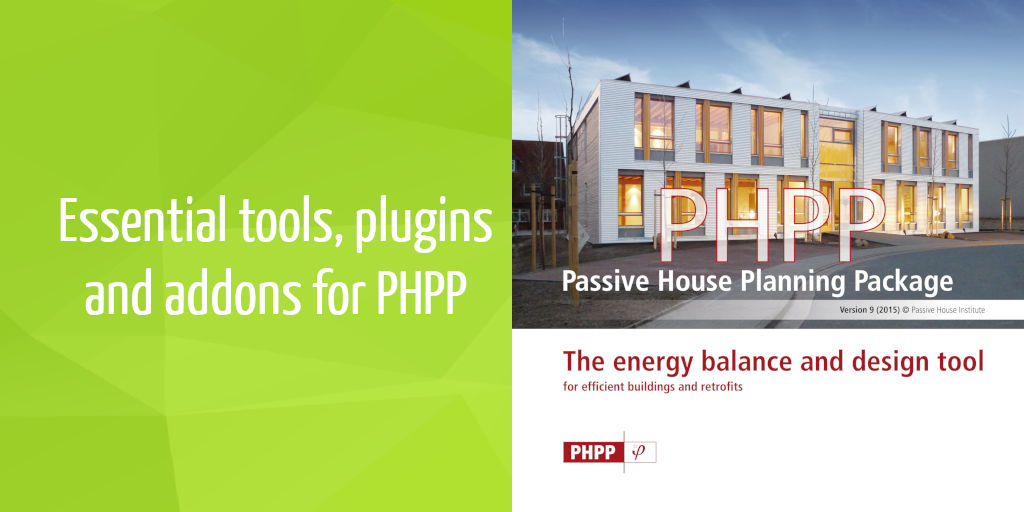 Essential tools, plugins and addons for PHPP | iPHA Blog