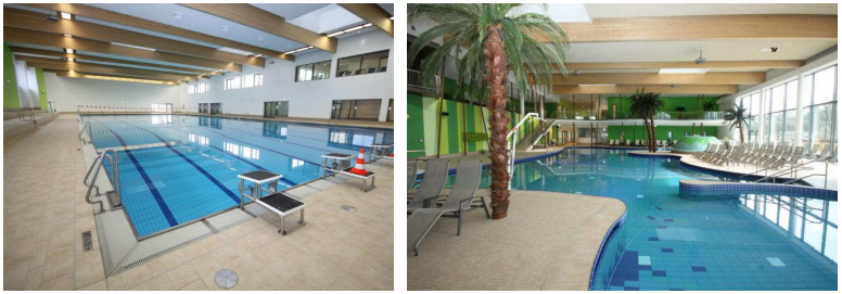 Interior view of Bambados including two different pools