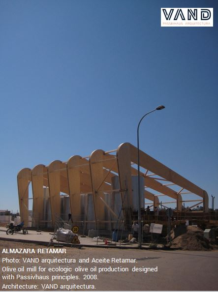 Image of the Passive House Oil Mill during its construction.